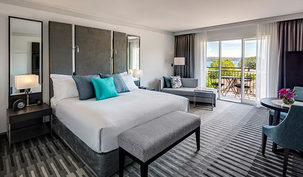Guest room with bay views