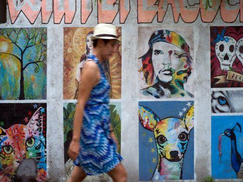 Indigo art wall