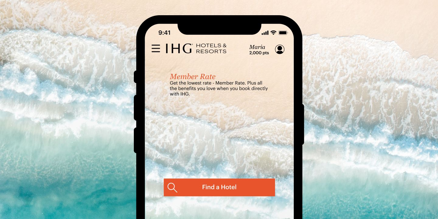 Use the app to book with ease