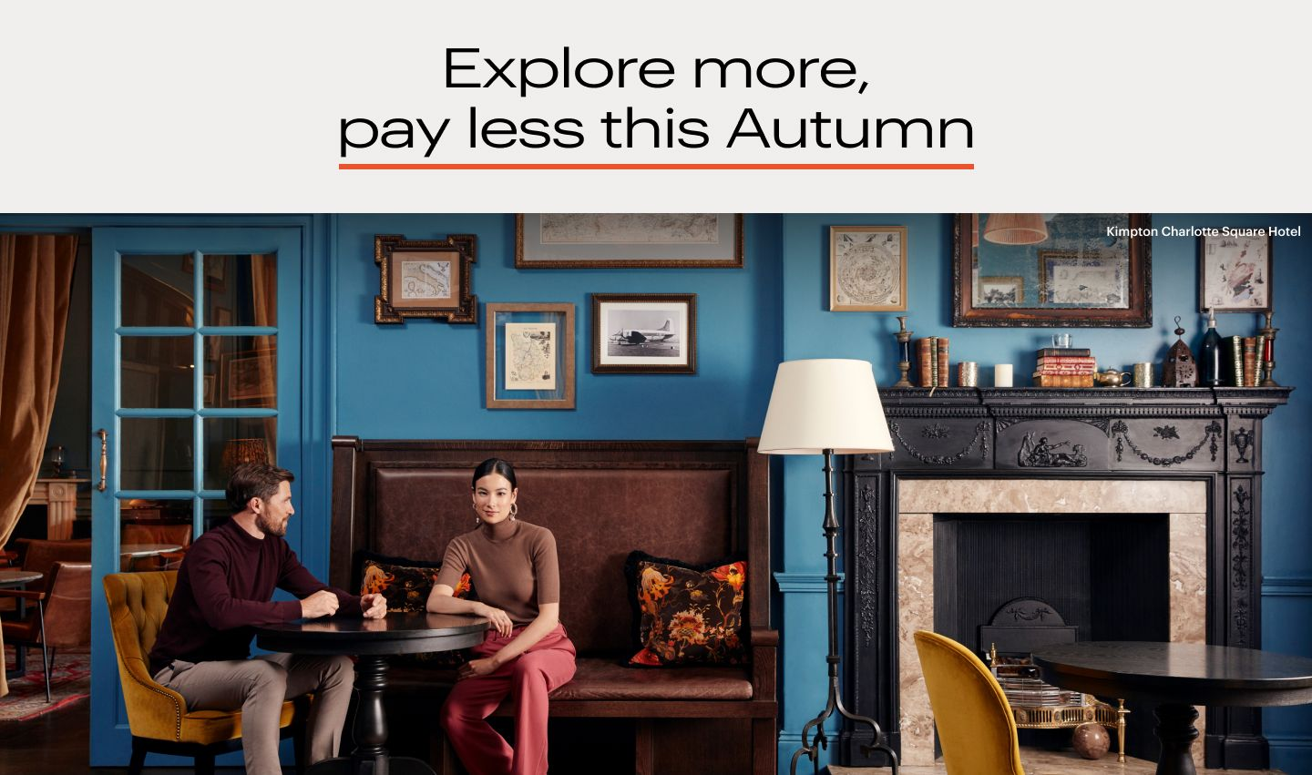 Save on your next getaway with our special Autumn offer