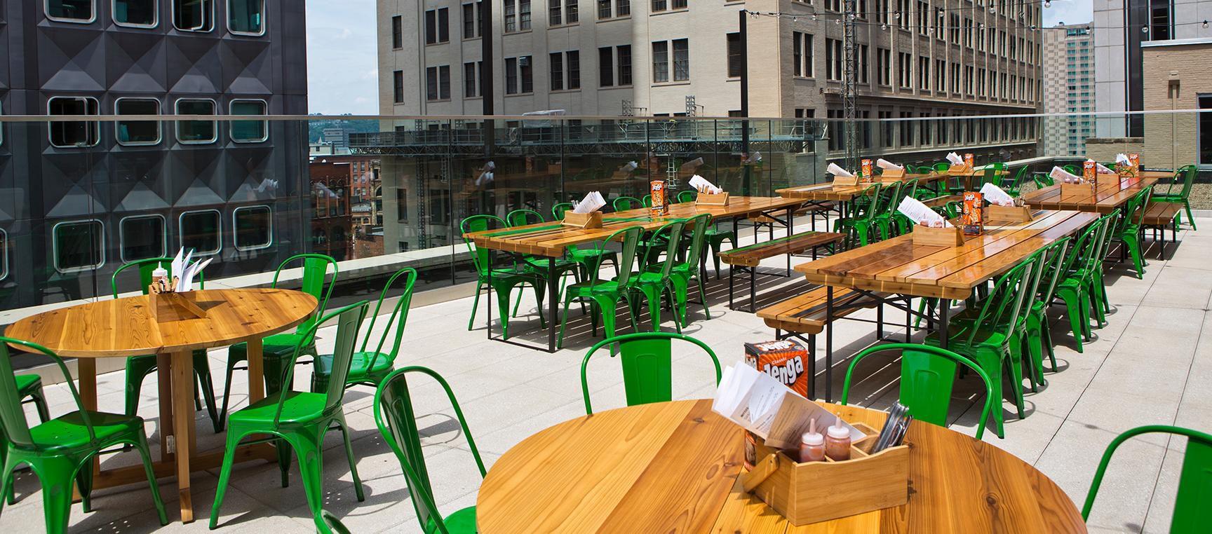 Rooftop Biergarten At Hotel Monaco Pittsburgh Kimpton Restaurants