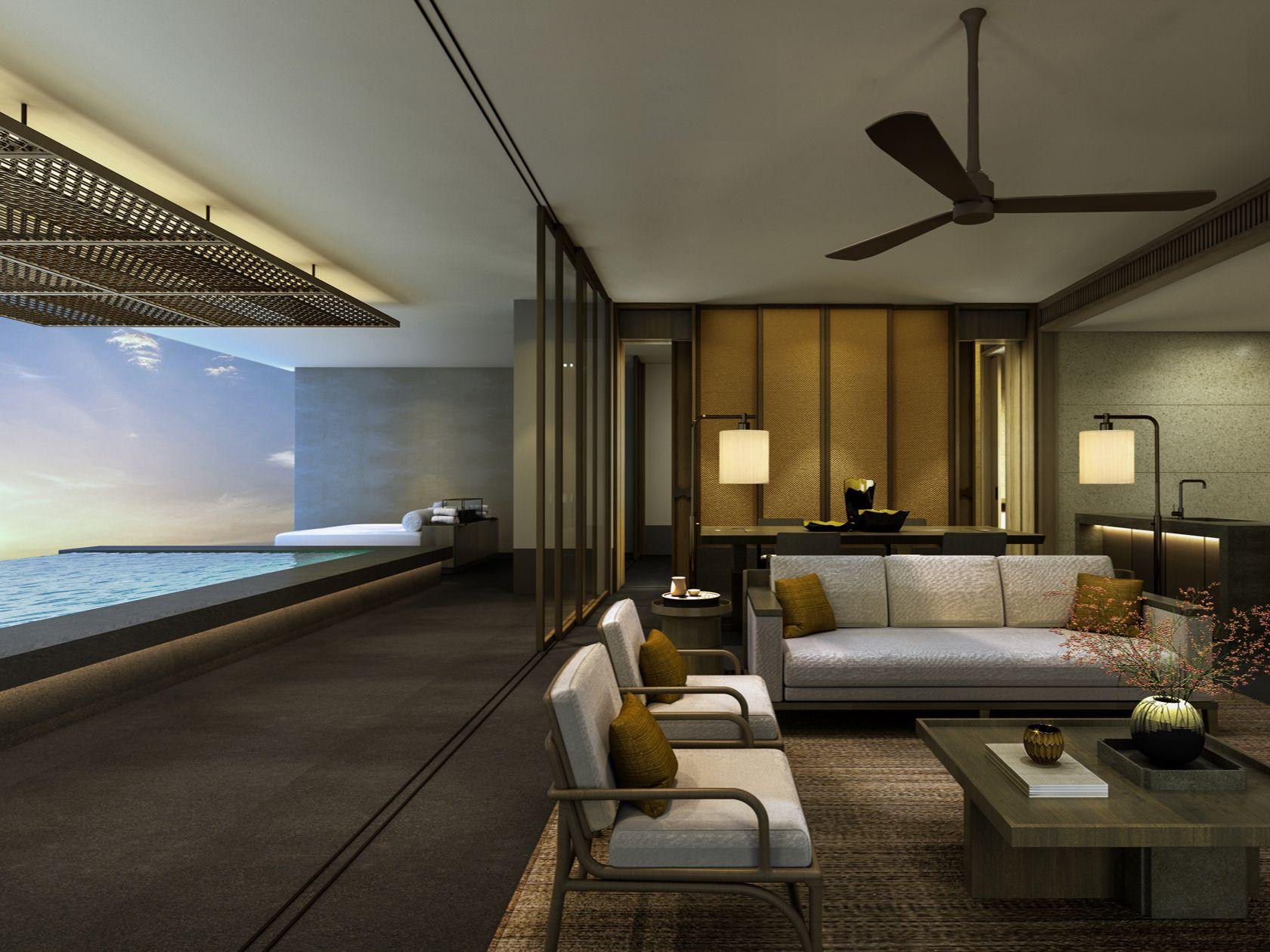 北京丽晶酒店客房浴室