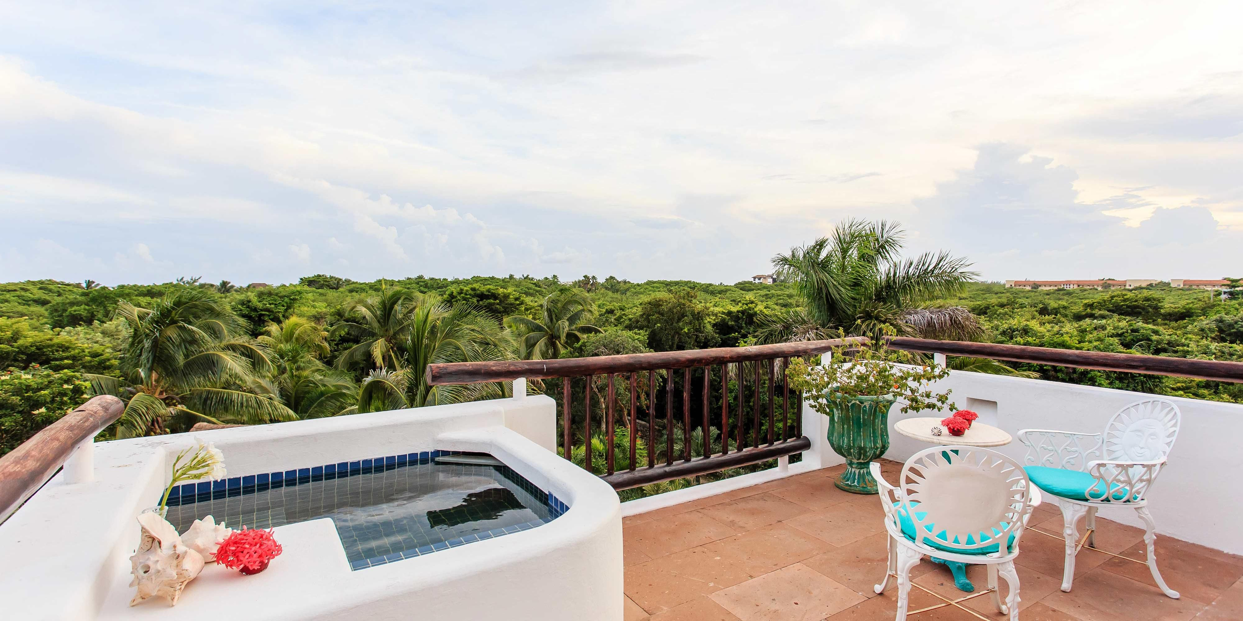 Private Villa terrace with jacuzzi