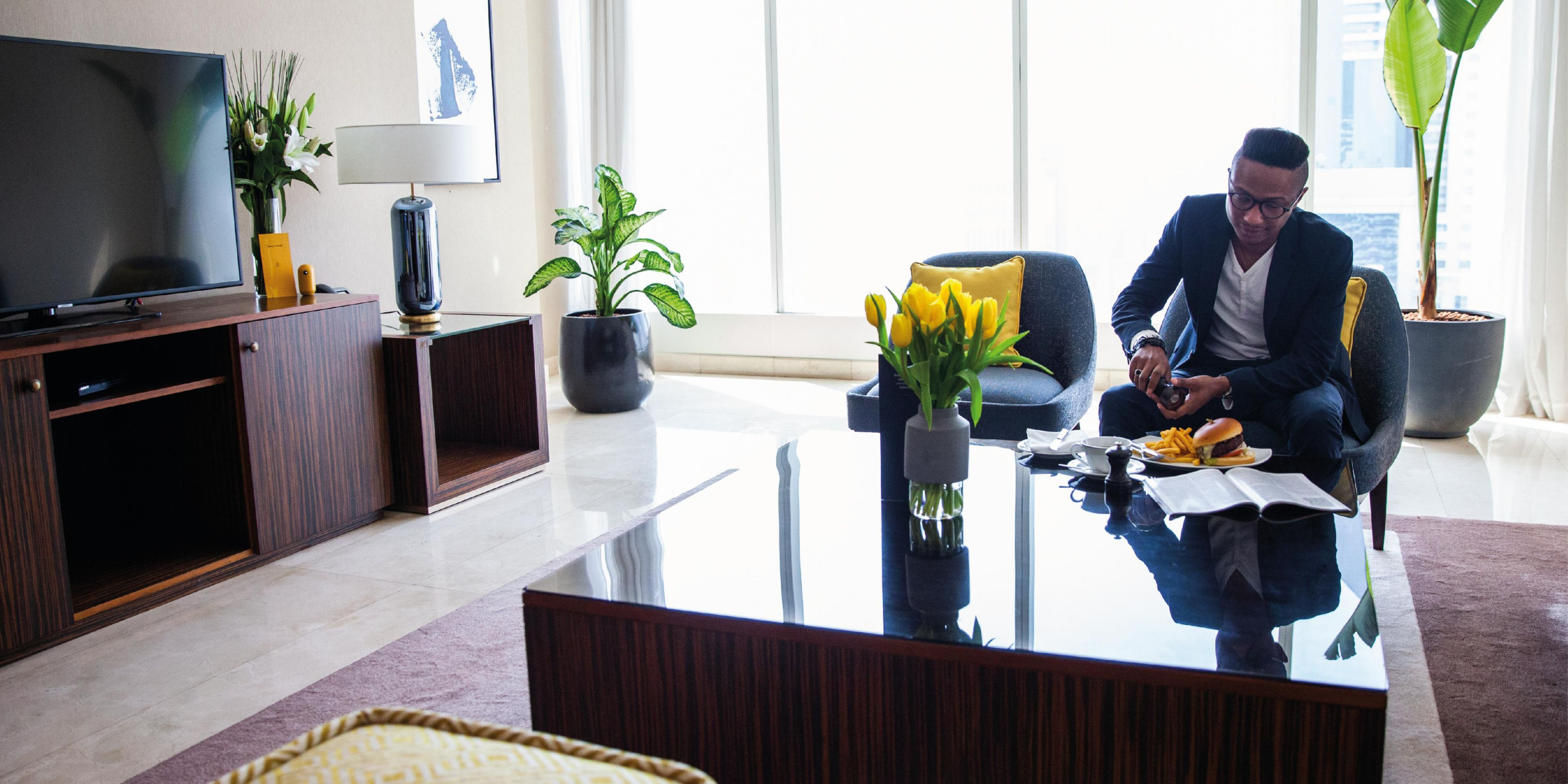 Panoramic Royal Suite with views of Sheikh Zayed Road and Jumeirah