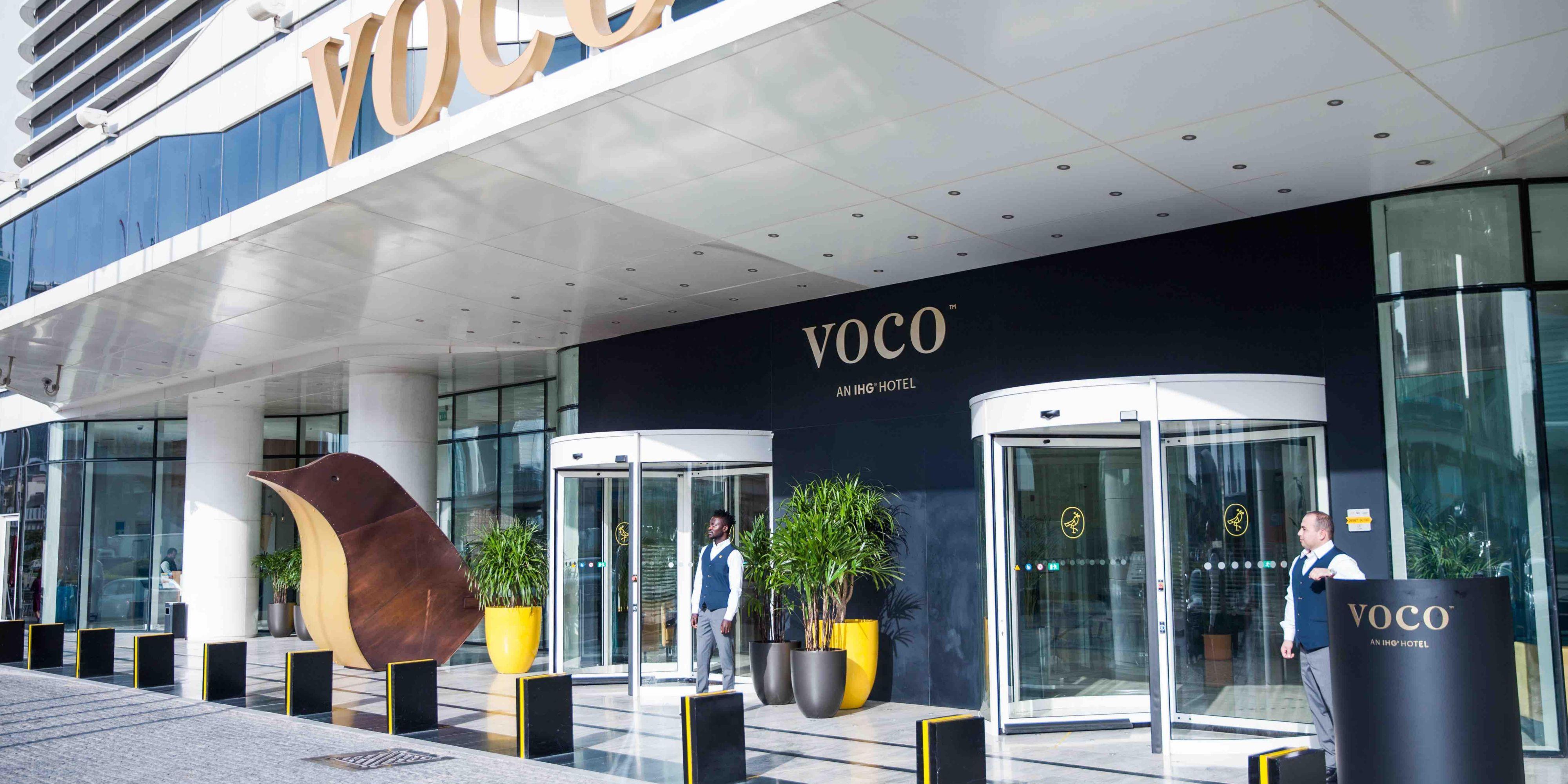 Front exterior of voco Dubai, Sheikh Zayed Road