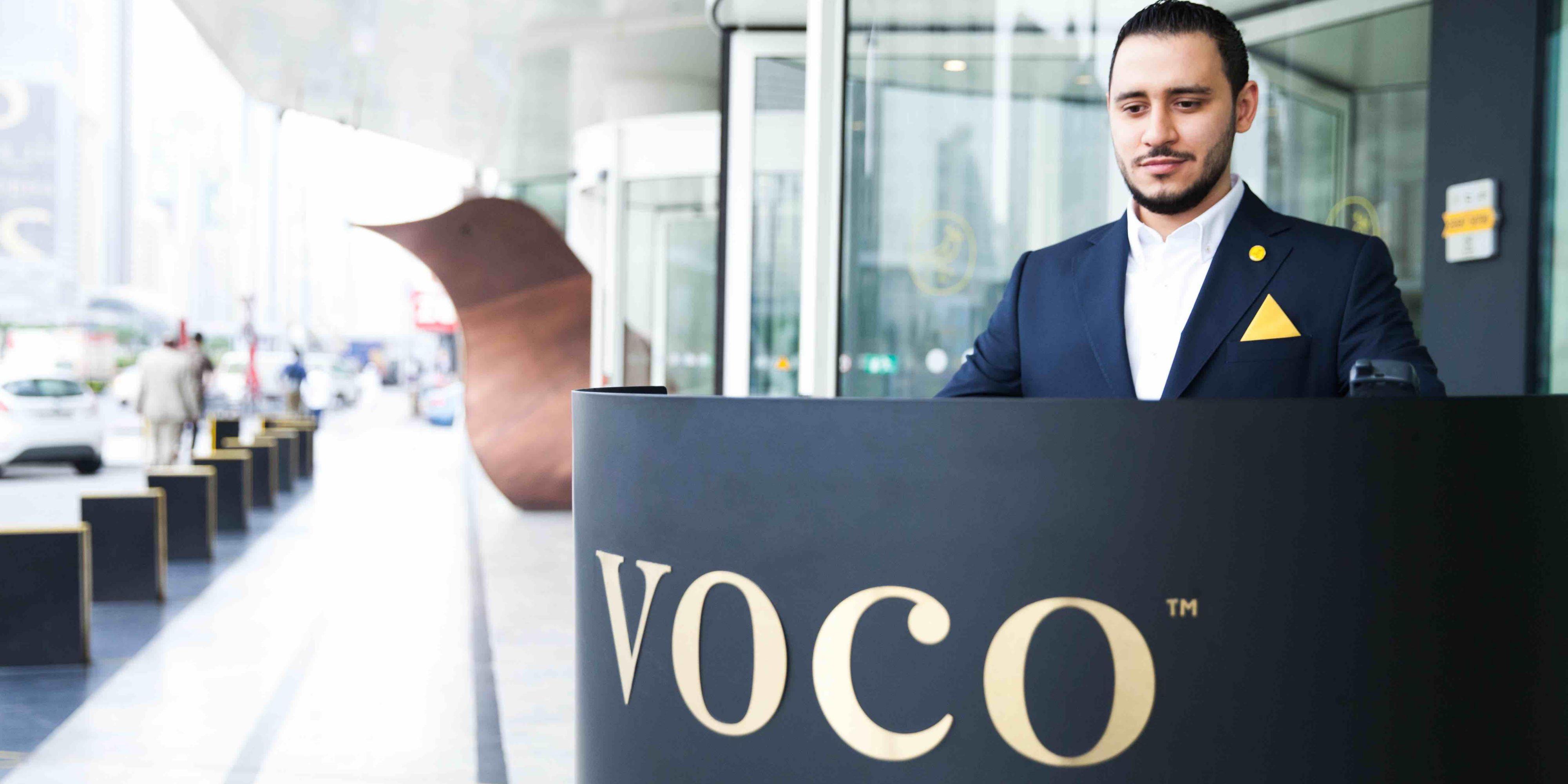 Front exterior of voco Dubai Hotel, Sheikh Zayed Road