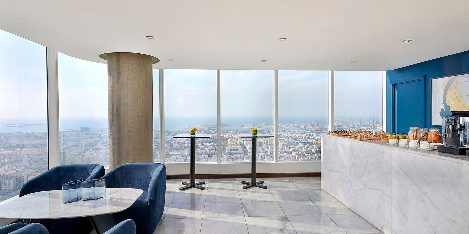 Meeting Plus break out area, with views of Jumeirah Beach