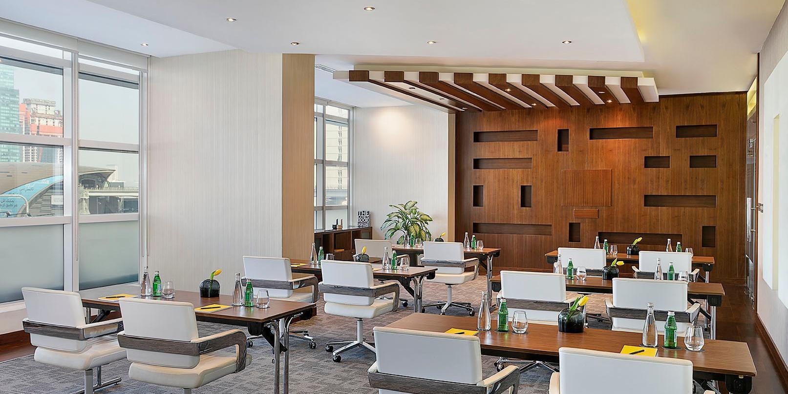 Nassima Meeting Room, voco Dubai, Sheikh Zayed Road view