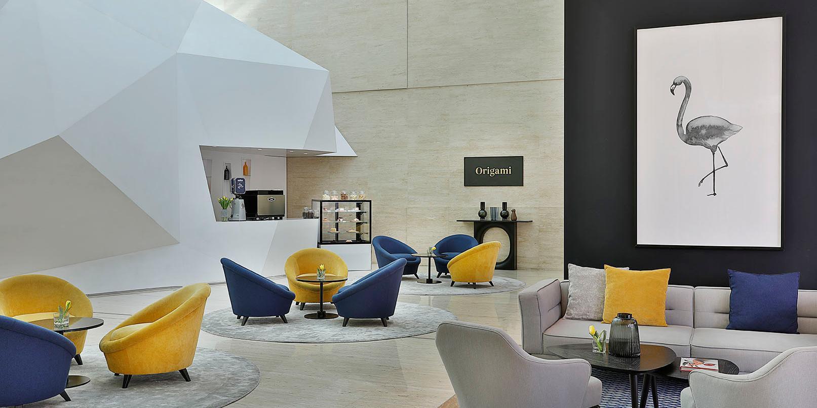 Origami Cafe, hotel lobby, voco Dubai, Sheikh Zayed Road