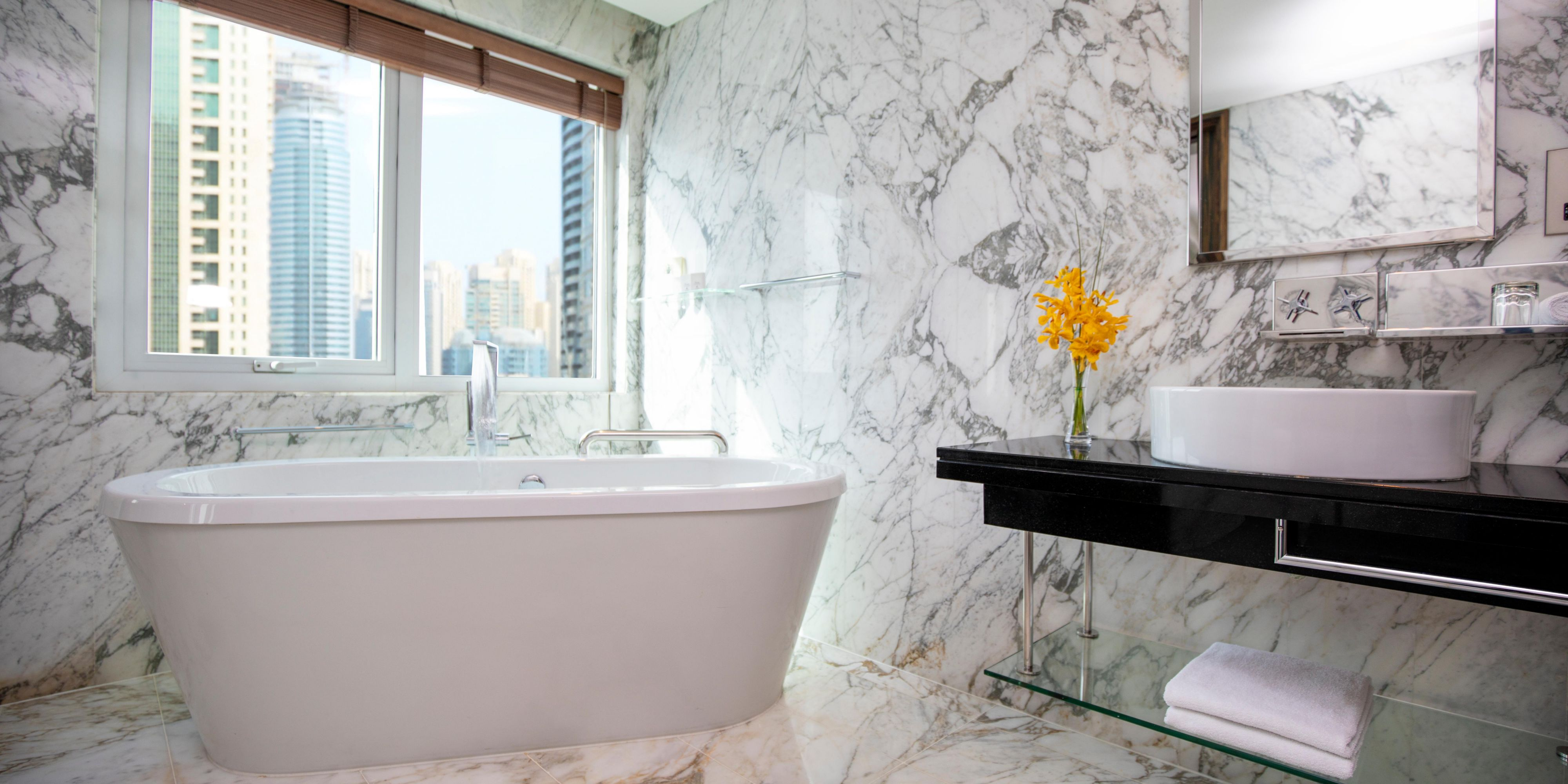 Your very own stand alone bathtub in our Club Deluxe Suite