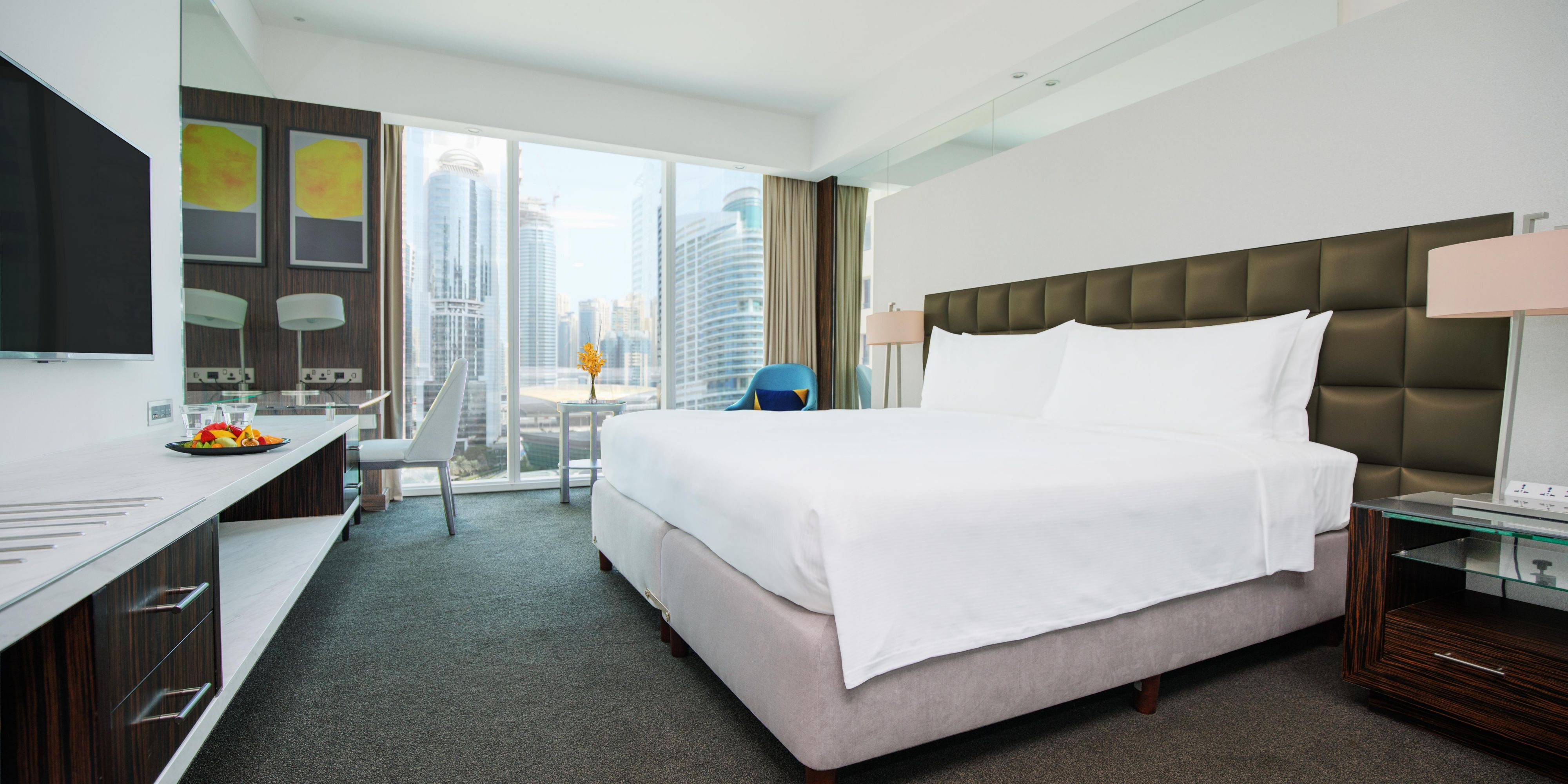 our comfy king bed in the Deluxe room (Almas View)