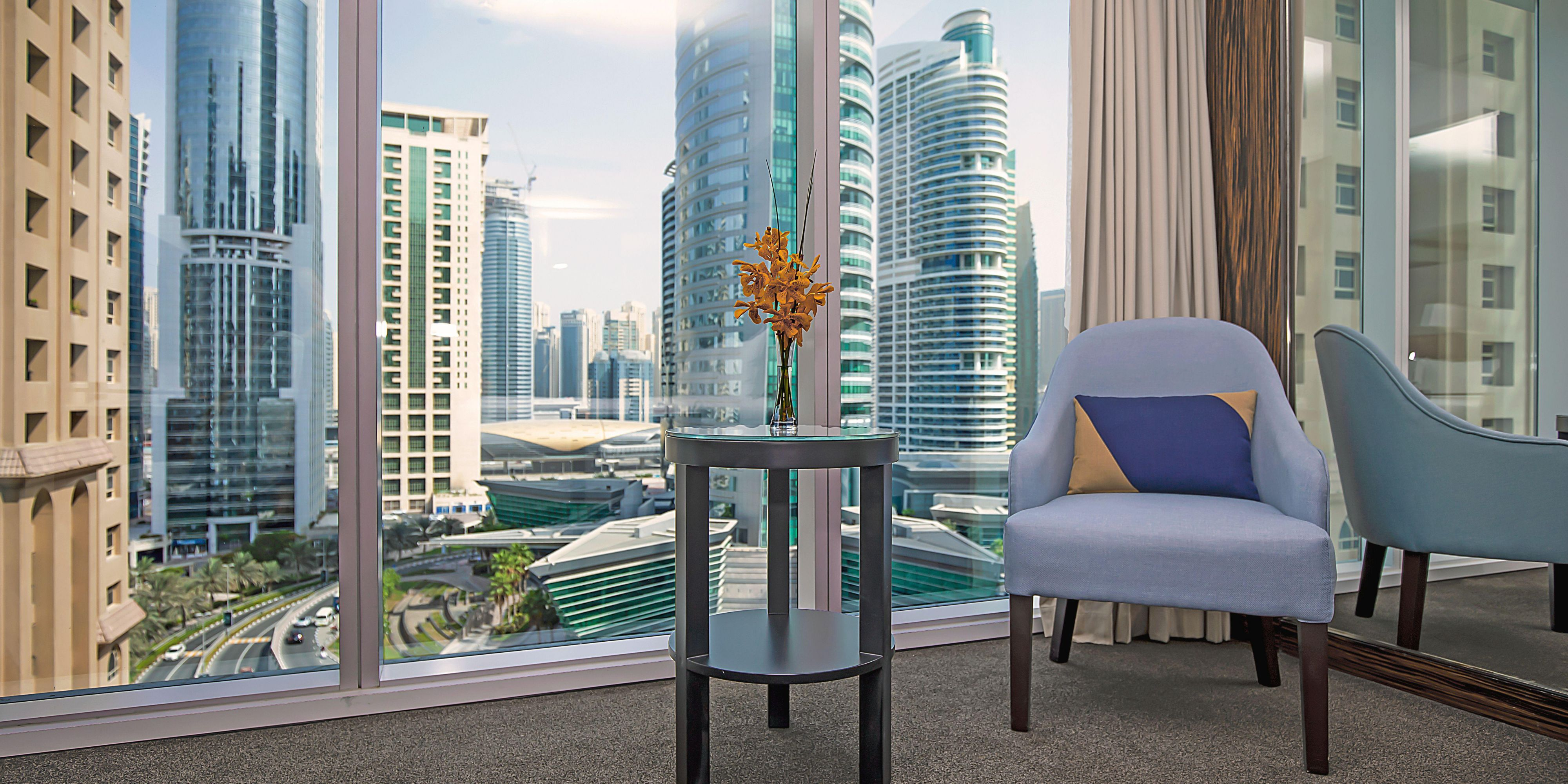 Skyline views from our Deluxe rooms