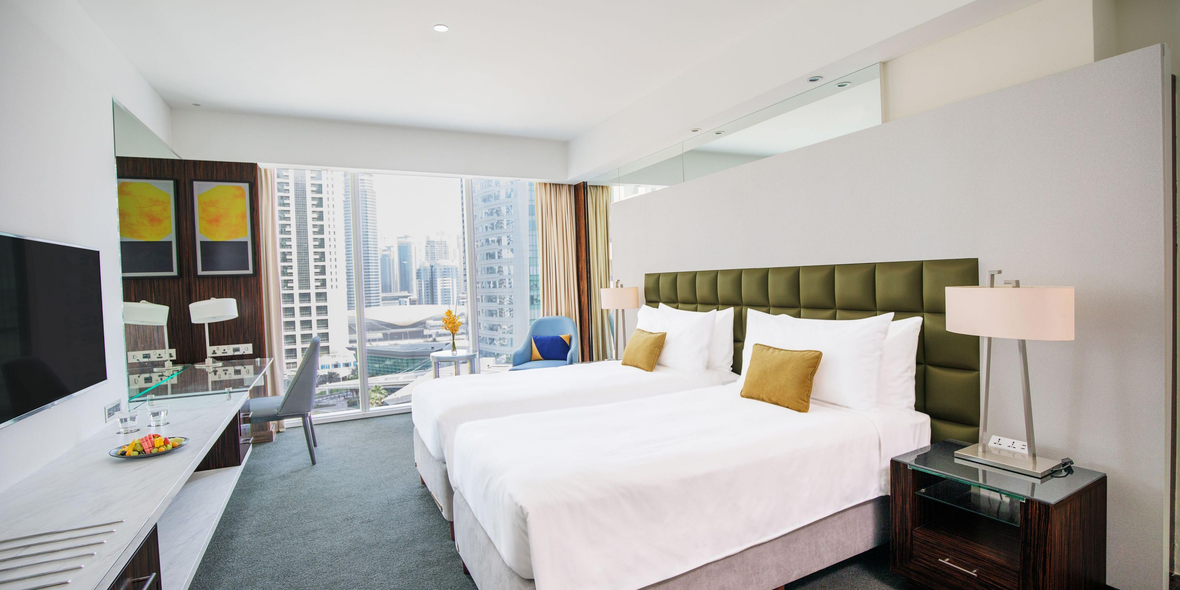 Our twin beds available in the spacious Deluxe room