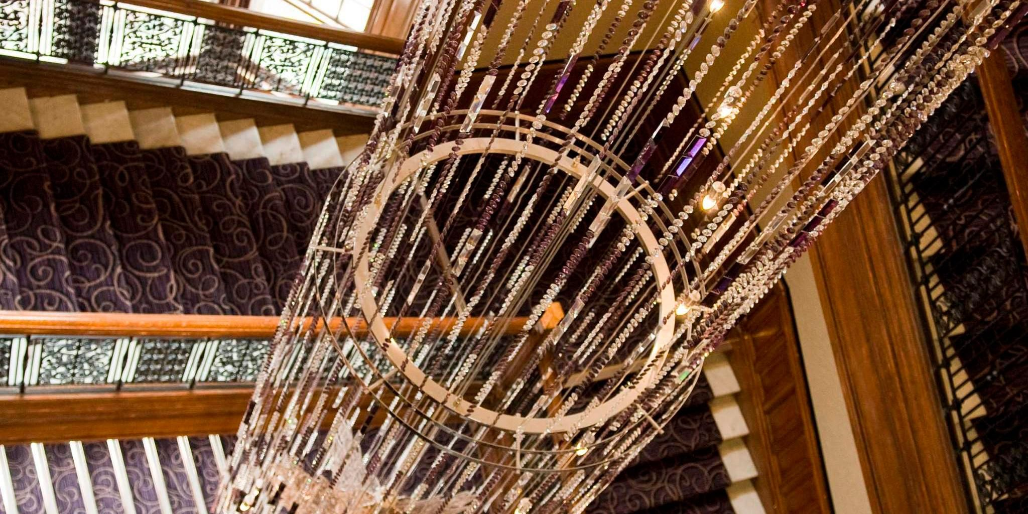 Stunning 25m chandelier and sweeping grand staircase