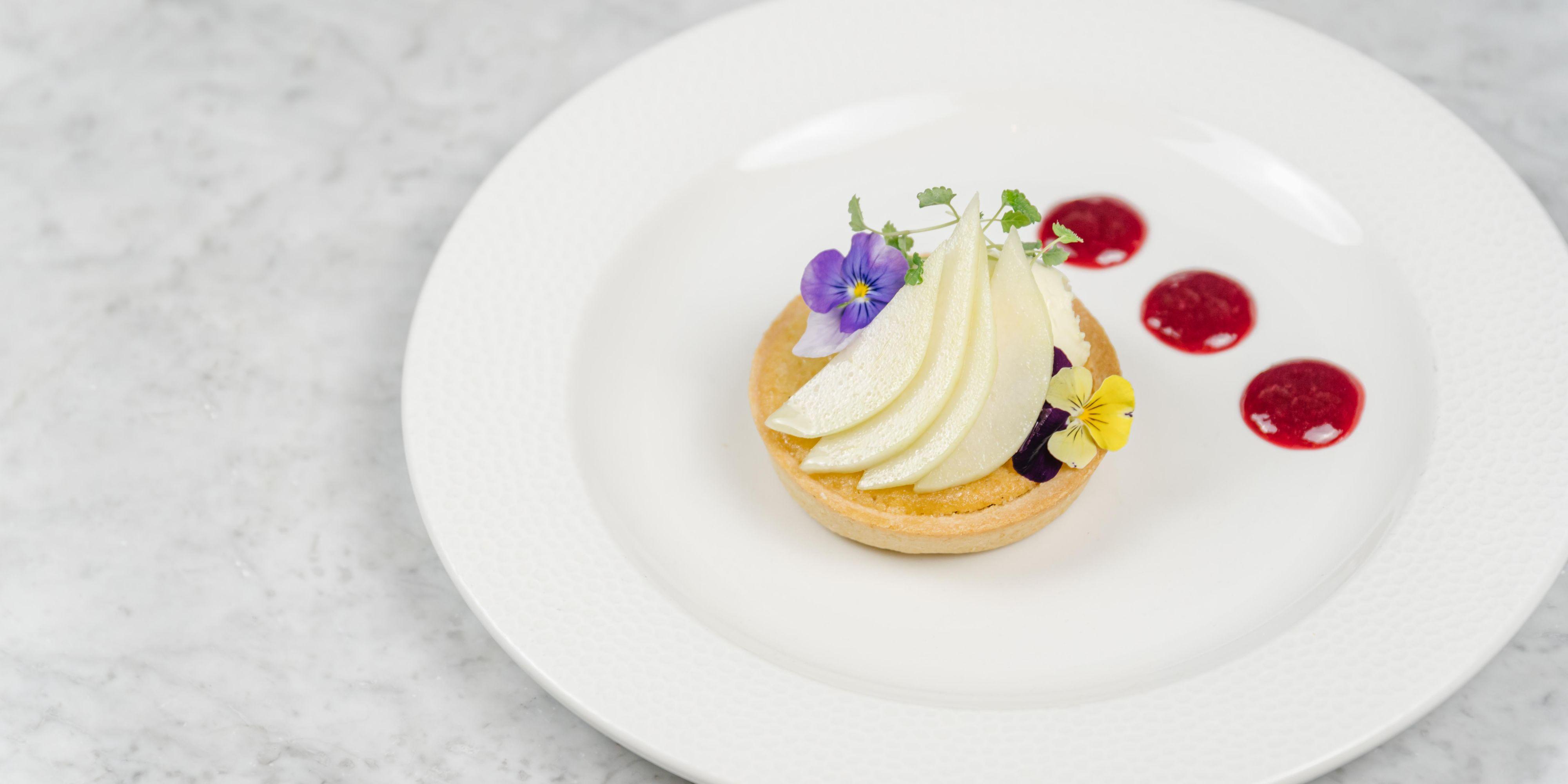 Finish with a sweet pear frangipane tart