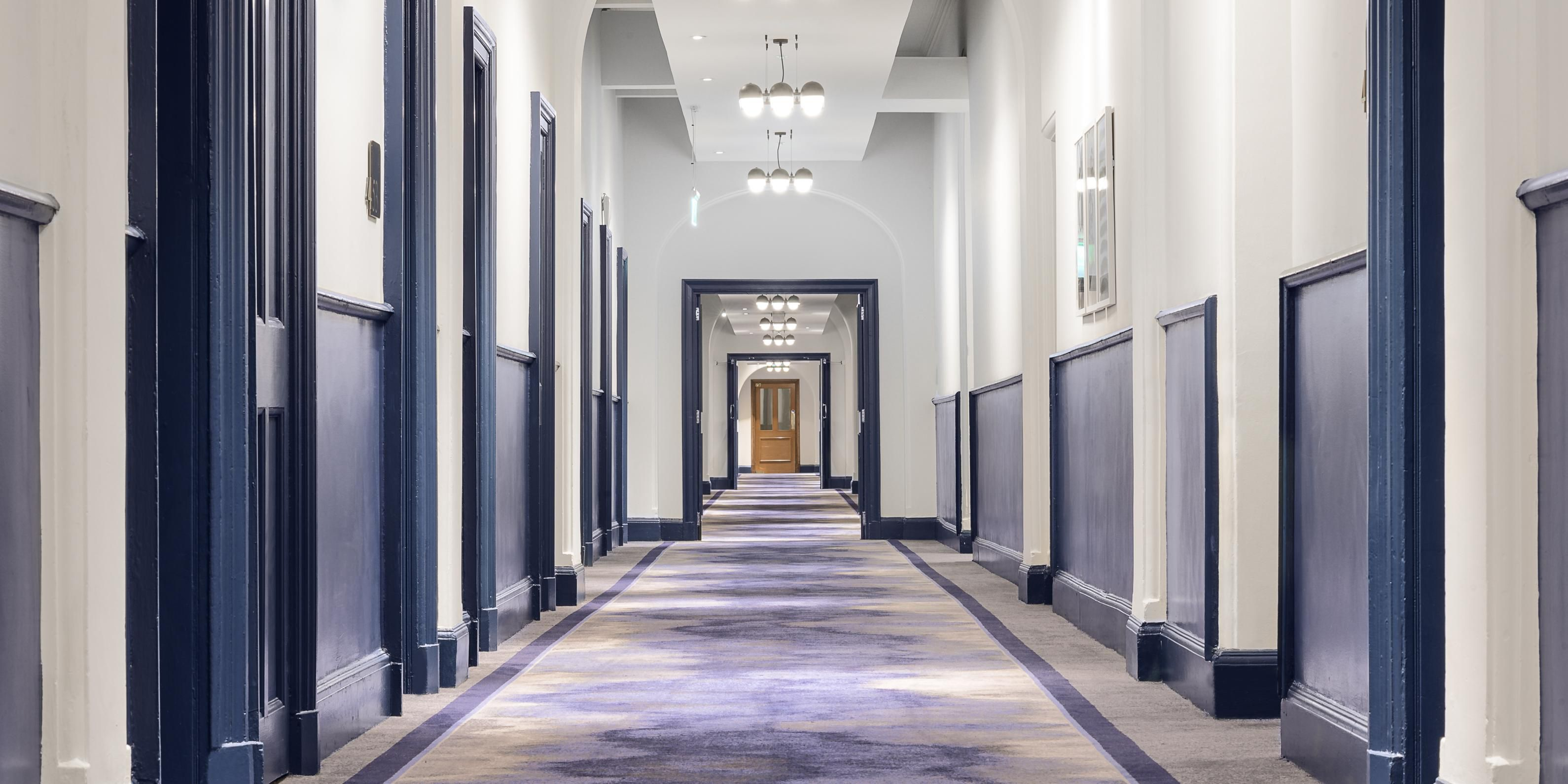 The grand Victorian corridors of the hotel