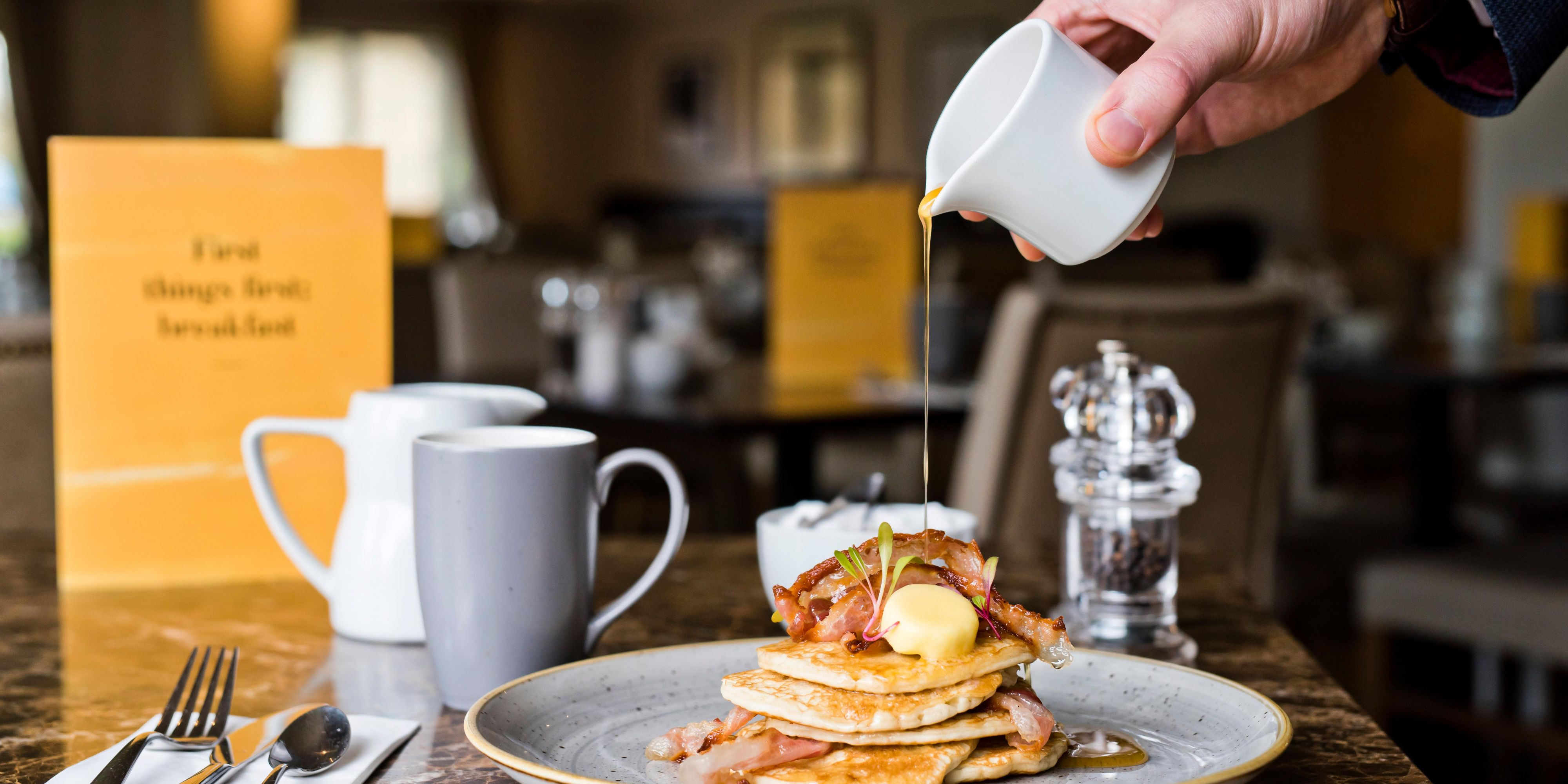 Pancake stack - just one of our many brunch options