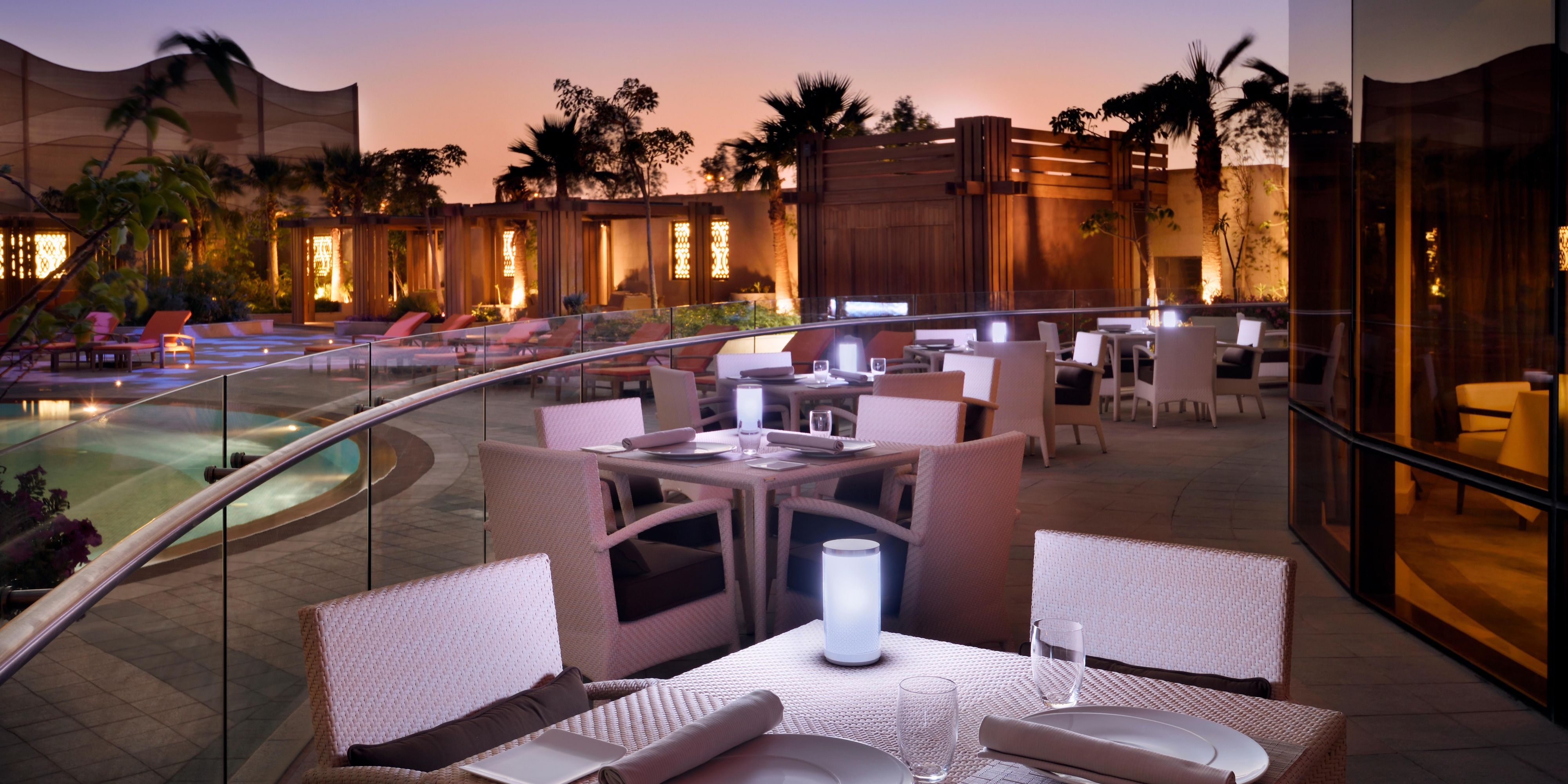 poolside service at Cabana bar with best selected dishes and drink