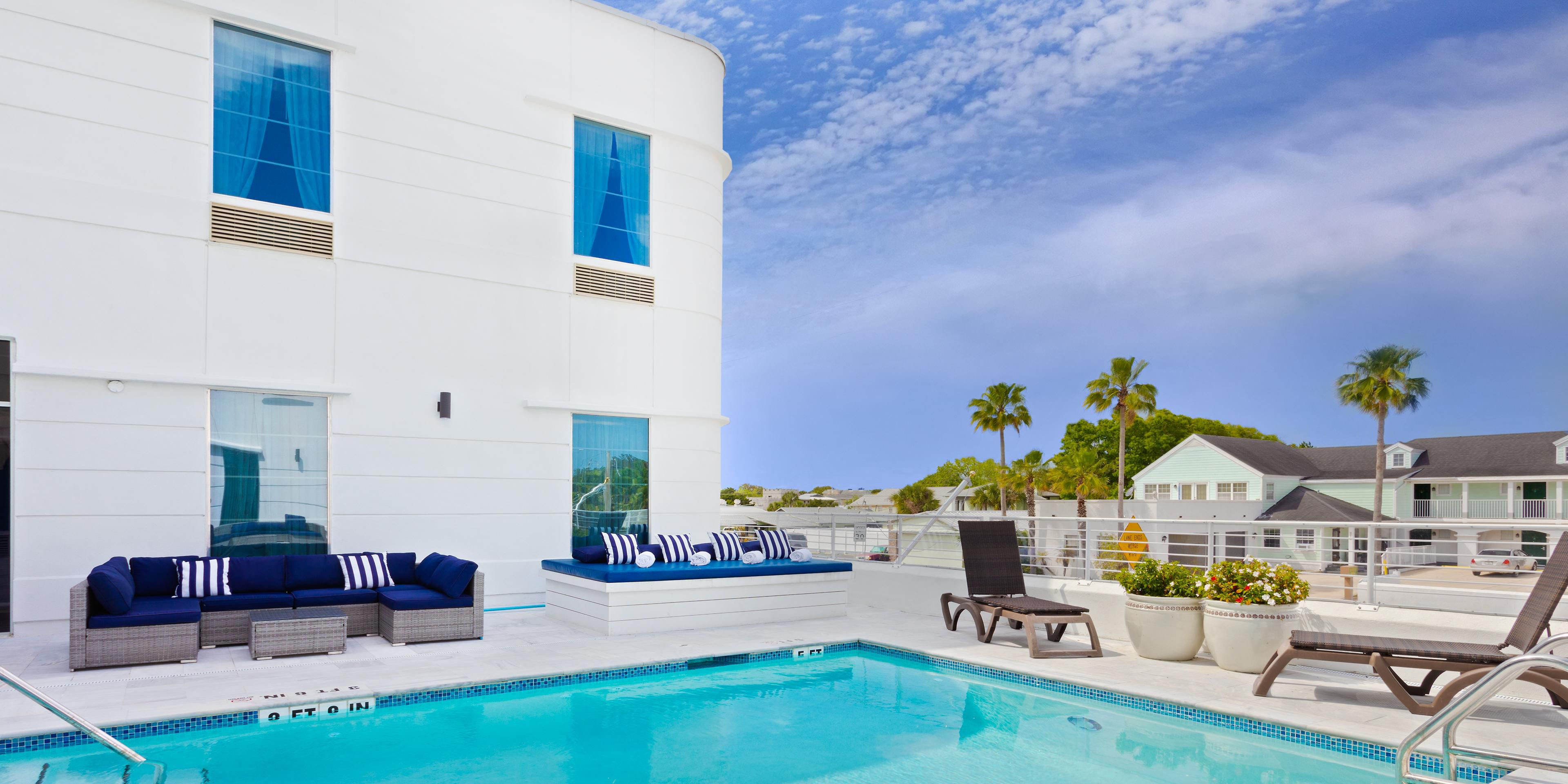 Enjoy the rooftop pool & sun deck at our St Augustine hotel.