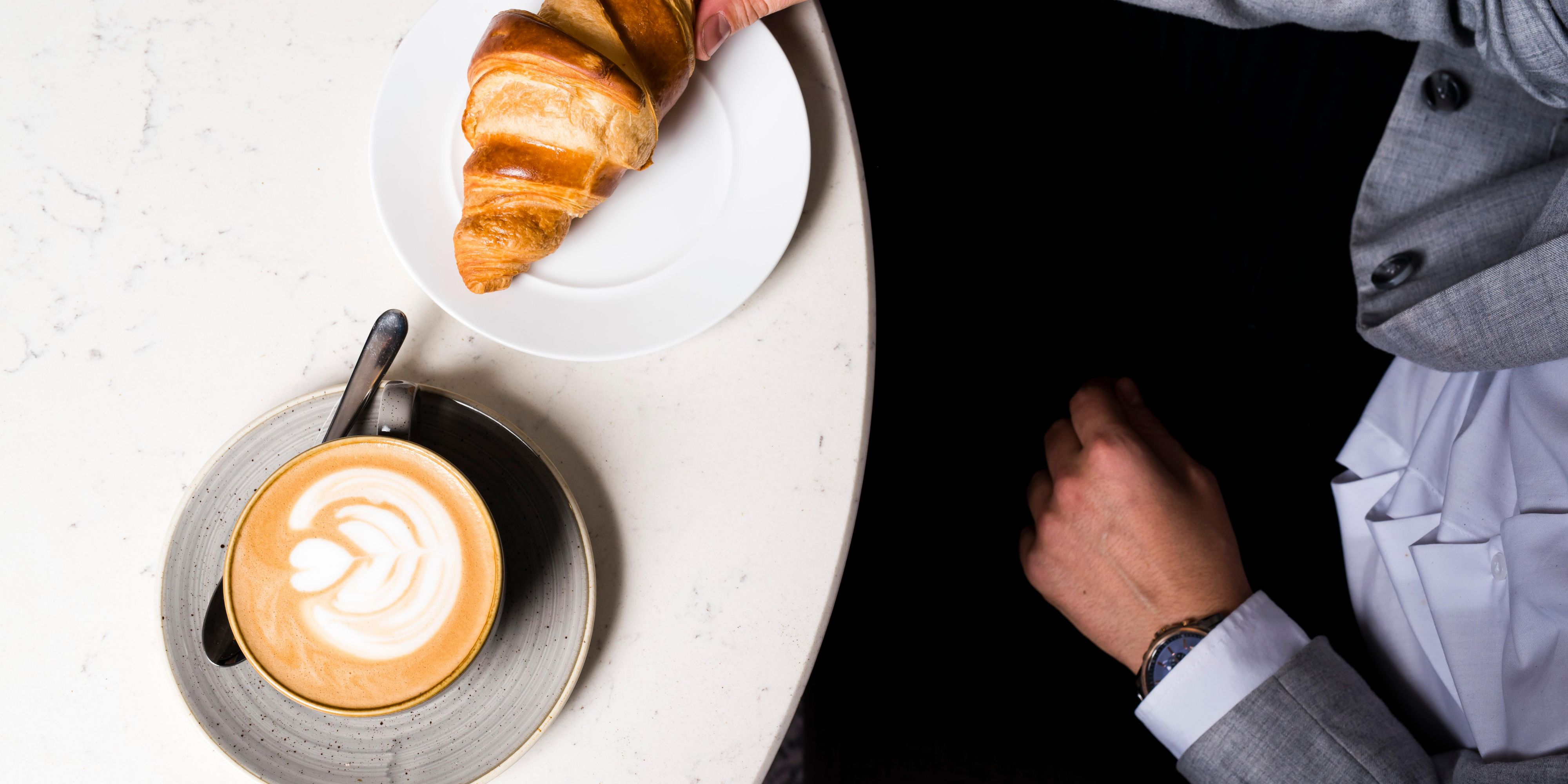 Locally-roasted coffee and house made pastries at BLVD bistro.