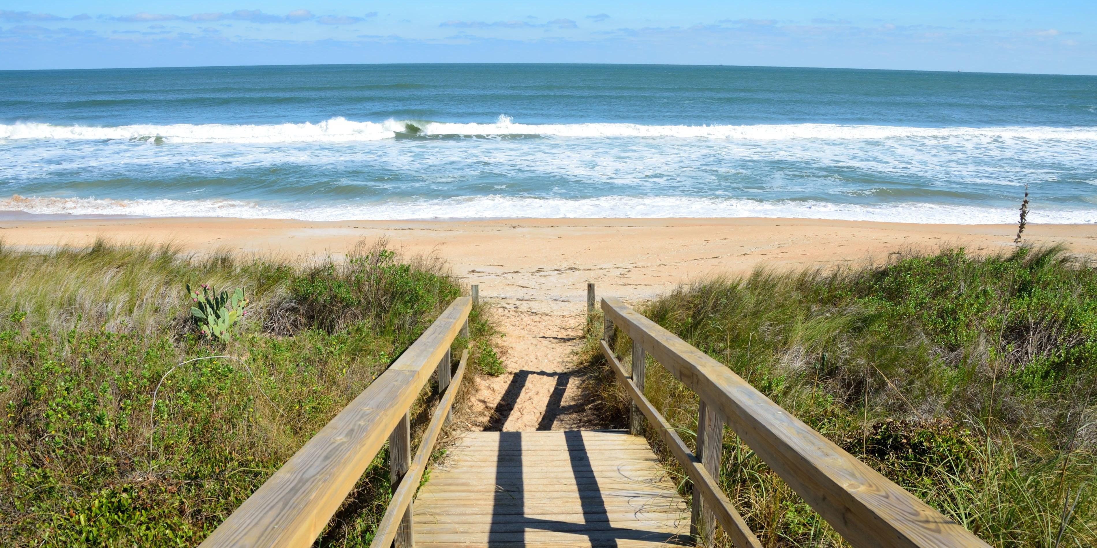 Our St Augustine hotel is a short drive to Vilano Beach.