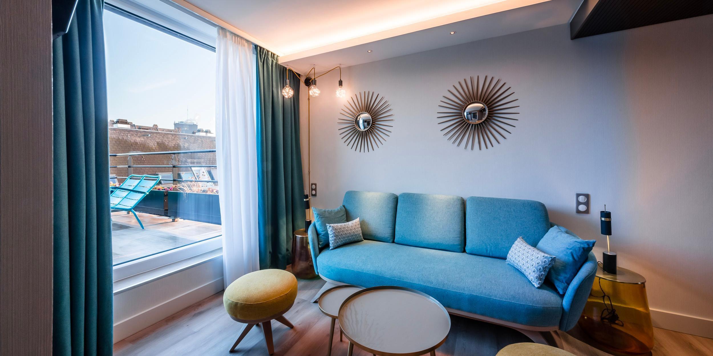 1 Queen bed Junior Suite - Living-room