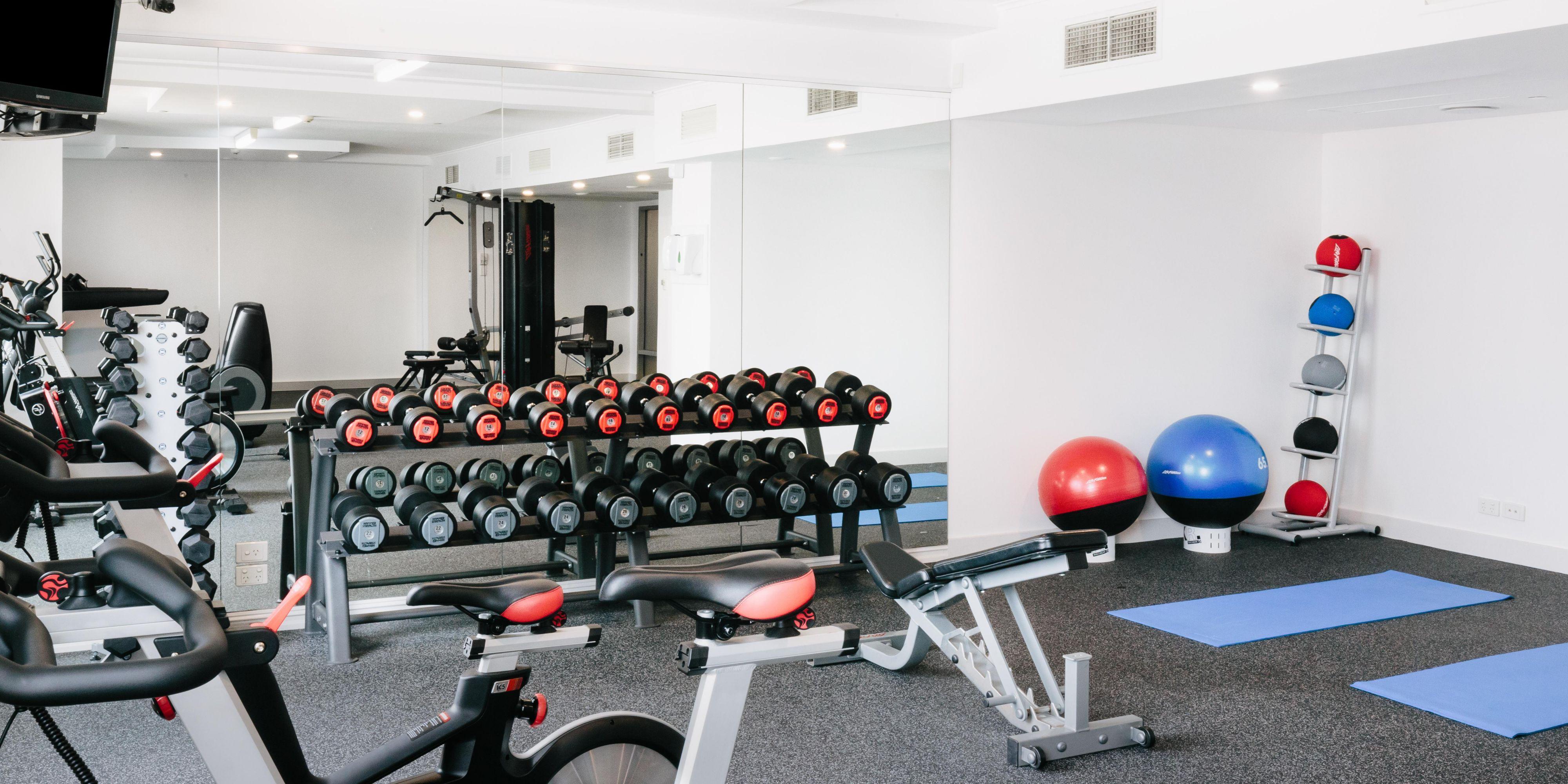 Fitness center on level 2