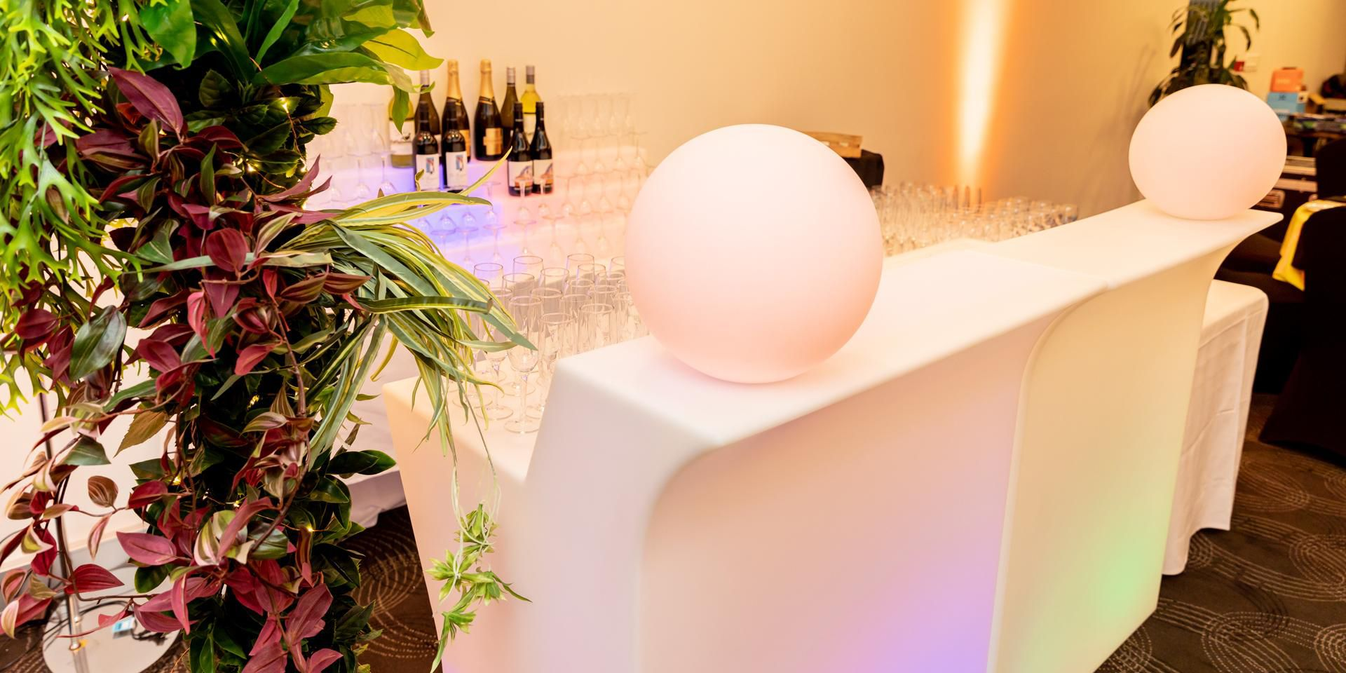 Portable glow bar for events