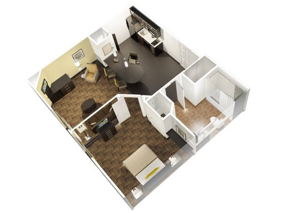 One bed suite
